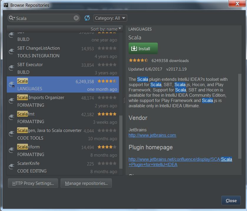 Setting up Spark with Scala development environment using IntelliJ